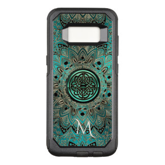 Teal Celtic Knot Mandala Otterbox OtterBox Commuter Samsung Galaxy S8 Case