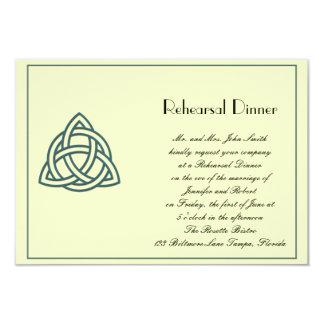 "Teal Celtic Knot Wedding Rehearsal 3.5"" X 5"" Invitation Card"