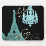 Teal Chandelier Paris Wedding SaveTheDate Mouse Pad