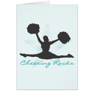 Teal Cheering Rocks T-shirts and Gifts Card