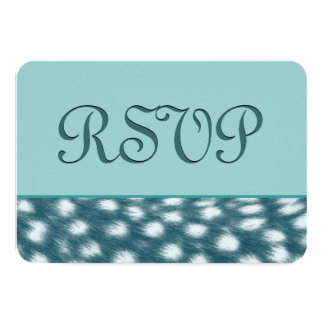 TEAL Cheetah RSVP Wedding Template V18