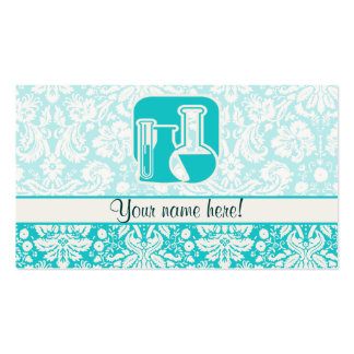 Teal Chemistry Double-Sided Standard Business Cards (Pack Of 100)