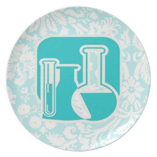 Teal Chemistry Dinner Plates