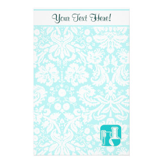 Teal Chemistry Stationery Paper