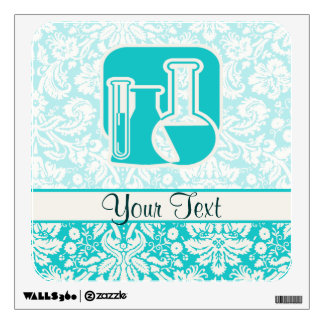 Teal Chemistry Wall Skins