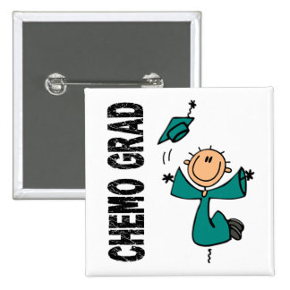 Teal CHEMO GRAD 1 (Ovarian Cancer) Button