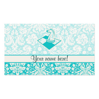 Teal Chess Double-Sided Standard Business Cards (Pack Of 100)