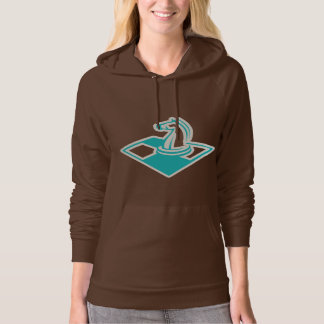 Teal Chess Hooded Pullover