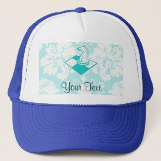 Teal Chess Trucker Hat
