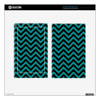 Teal Chevron 2 Skin For Kindle Fire