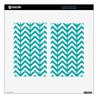 Teal Chevron 3 Skins For Kindle Fire