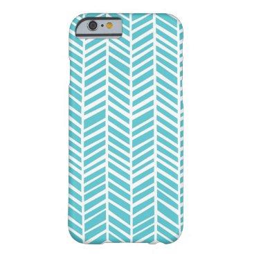 Teal Chevron iPhone 6/6s Plus Phone Case