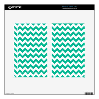 Teal Chevron Pattern Decal For Kindle Fire