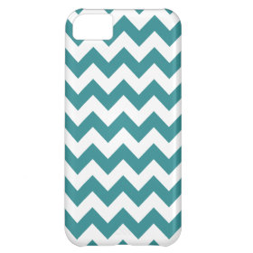 Teal Chevron Pattern iPhone 5C Cases