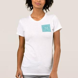 Teal Chevron Pattern | Teal Monogram T-Shirt