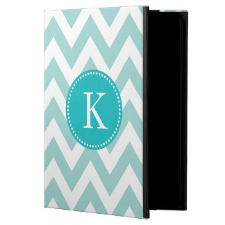 Teal Chevron Personalized Monogram iPad Air Cover