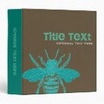 Teal & Choco Bee Binder