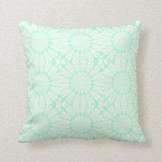 Teal Circle Design Throw Pillow