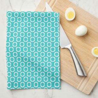 Teal Circle Kitchen Towel