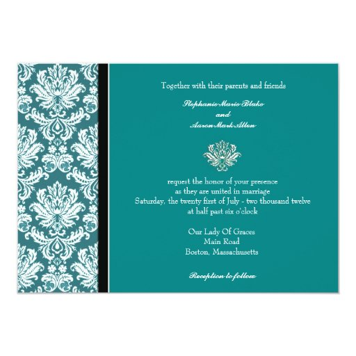 Teal Wedding Invites as great invitations example