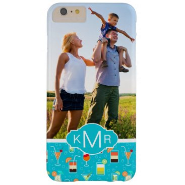Beach Themed Teal Cocktail Pattern | Add Your Photo Barely There iPhone 6 Plus Case