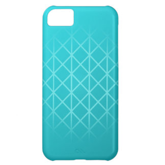 Teal Color Background Design with Grid Pattern. Cover For iPhone 5C