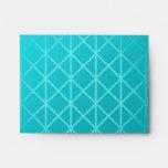 Teal Color Background Design with Grid Pattern. Envelopes