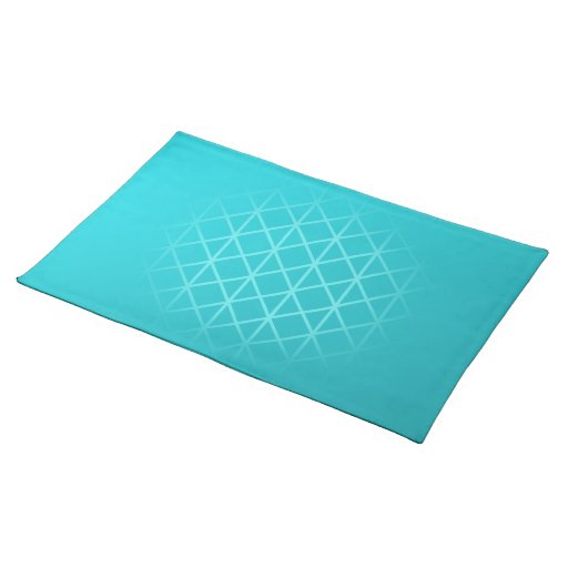 Teal Color Background Design With Grid Pattern Placemat