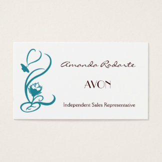 Teal Color Business Cards