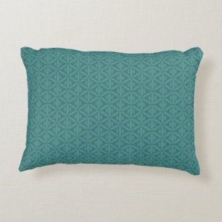Teal Color Green Bluish Greenish Accent Pillow