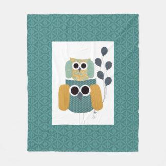 Teal Color Green Bluish Greenish Fleece Blanket