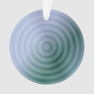 Teal concentric rings