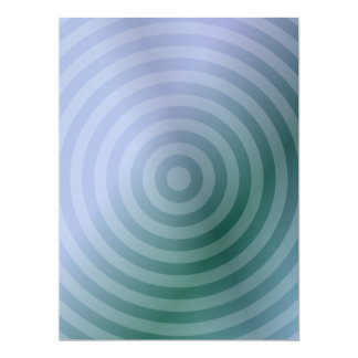 Teal concentric rings card