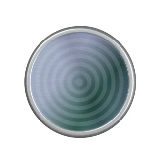 Teal concentric rings speaker
