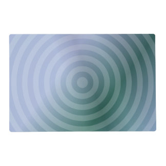 Teal concentric rings placemat