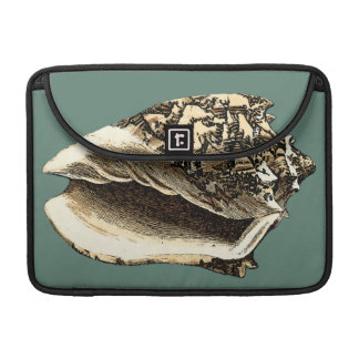 Teal Conch Shell MacBook Pro Sleeve