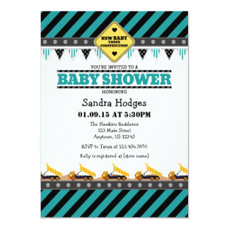 construction baby shower invitations announcements zazzle