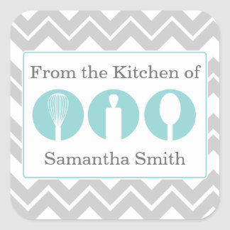 Teal Cooking Utensils Trio Kitchen Labels