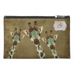 Teal & Copper Giraffes Monogram Travel Bag Travel Accessories Bags
