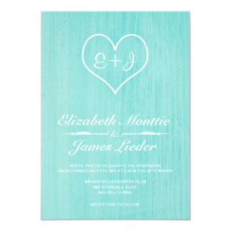 Teal Country Wedding Invitations