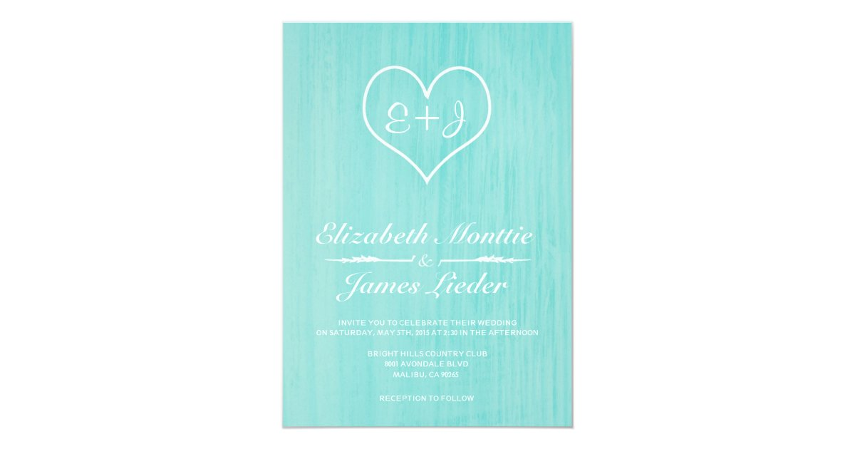 Teal Invitations Wedding: Teal Country Wedding Invitations