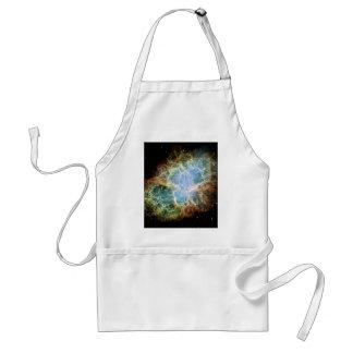 Teal Crab Nebula Adult Apron