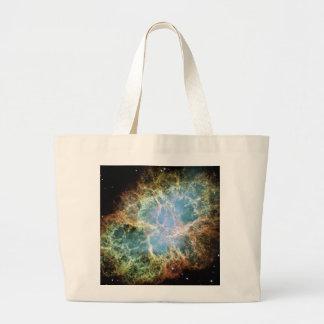 Teal Crab Nebula Tote Bag