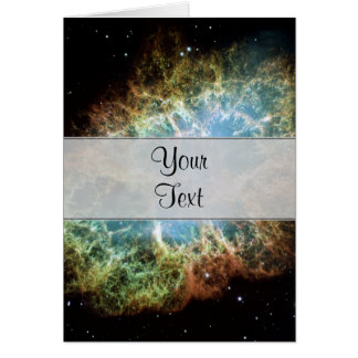 Teal Crab Nebula Card