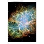 Teal Crab Nebula Greeting Cards