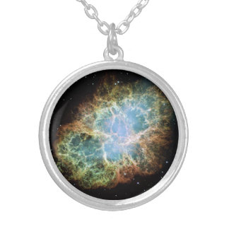Teal Crab Nebula Necklace