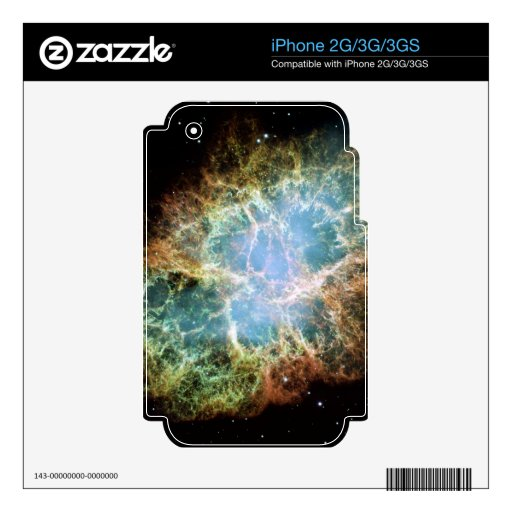 Teal Crab Nebula Decals For The iPhone 3GS