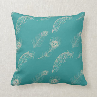 Teal And Cream Decorative Pillows : Teal Peacock Pillows - Decorative & Throw Pillows Zazzle