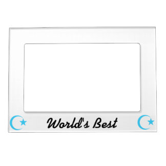 Teal Crescent & Star.png Magnetic Photo Frame