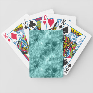 Teal Crumpled Texture Bicycle Playing Cards